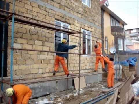 Утепление стен,фасадов,пенопластом,декоративная штукатурка короед