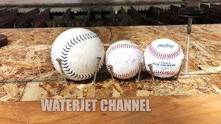 $1 Baseball vs $30 MLB Baseball vs Waterjet at 60,000 PSI