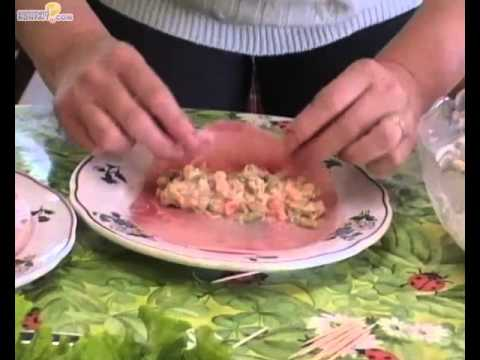 Recette roulés jambon macédoine