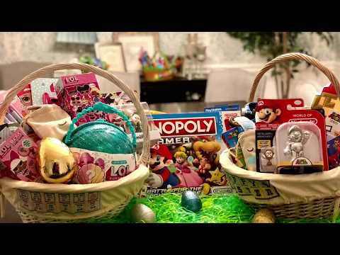 LOL SURPRISE AND SUPER MARIO EASTER BASKETS