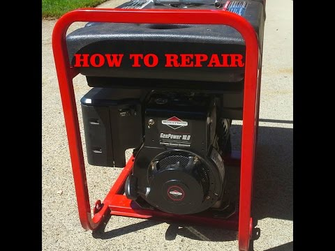 HOW TO TROUBLESHOOT a GENERATOR that WON'T START or RUN – BRIGGS and STRATTON 10 Horsepower engine