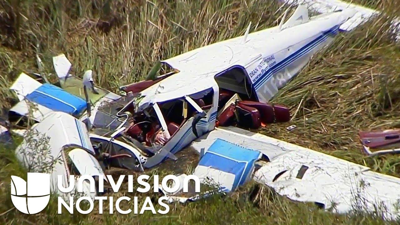 """Información preliminar indica que estaban entrenando"": policía sobre choque de avionetas en Florida"