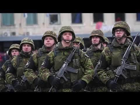 Estonia Independence Day Parade 2019 (BROLL Package) TALLINN, ESTONIA 02.24.2019