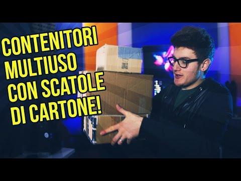 CONTENITORI ECONOMICI CON SCATOLE DI CARTONE ! DIY