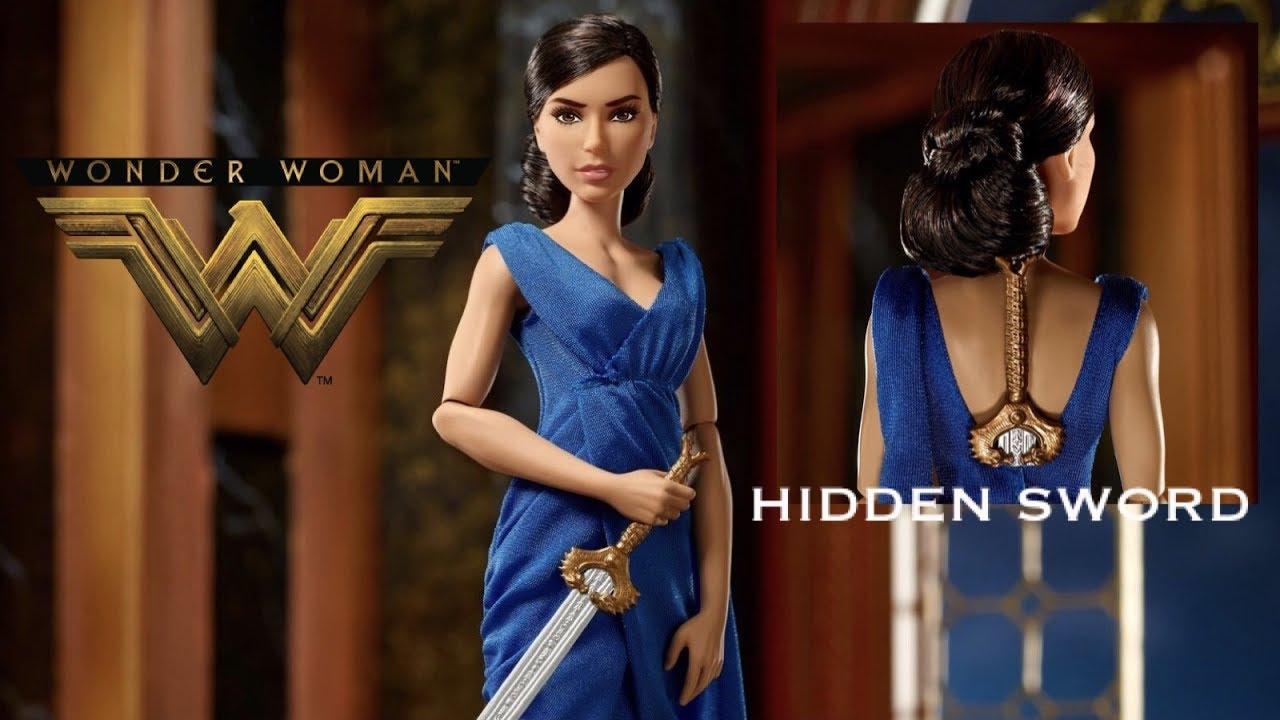 f6dfd1f38ab1 WONDER WOMAN Hidden Sword Doll Review - DC Comics - Barbie - YouTube