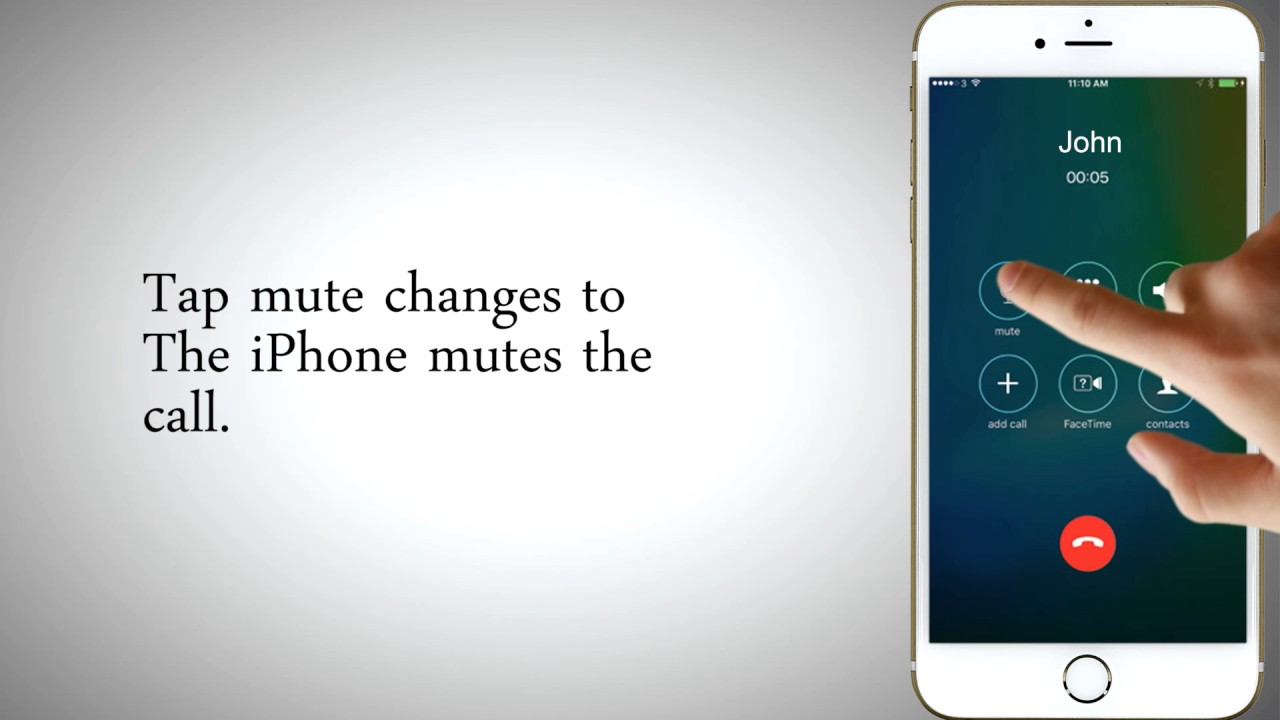 How to Mute a Call or Put a Call on Hold in iPhone - YouTube