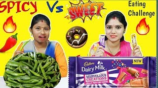 SWEET VS SPICY EATING CHALLENGE | Sweet vs Spicy Competition | Food Challenge