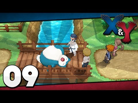 Pokémon X And Y - Episode 9 | Camphrier Town And The Sleeping Snorlax!