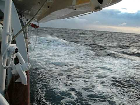 25 ft Waves - Royal Clipper in Mediterranean