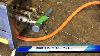 ガス器具のガス漏れ点検