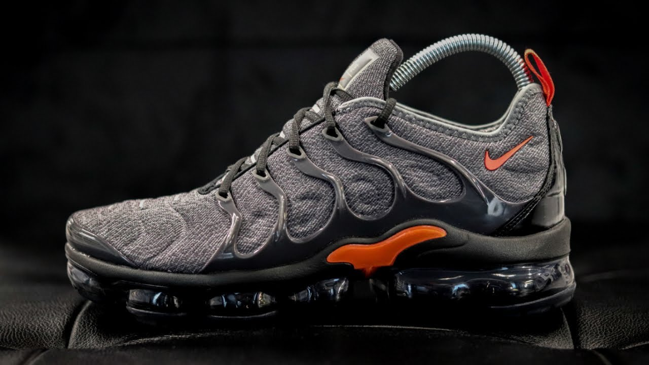 discount outlet store sale professional sale NIKE AIR VAPORMAX PLUS COOL GREY/TEAM ORANGE - YouTube