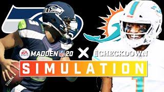 Seattle Seahawks vs. Miami Dolphins Week 4 Full Game | Madden 2020 Season Simulation