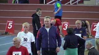 Бег 60 м. Чемпионат Москвы по легкой атлетике среди ветеранов в помещении 2018