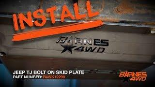 Barnes 4WD Jeep YJ Flat Skid Plate