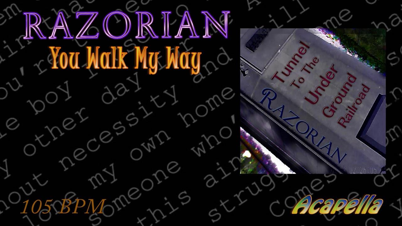 Razorian - Walk this way ( Acapella )( Vocals Only ) 105 BPM