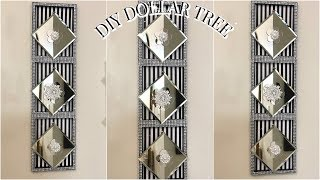 DIY DOLLAR TREE GLAM MIRROR WALL DECOR | DIY HOME DECOR IDEAS