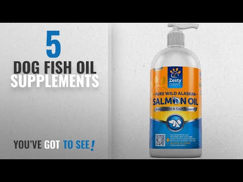 Top 10 Dog Fish Oil Supplements [2018 Best Sellers]: Pure Wild Alaskan Salmon Oil For Dogs & Cats -