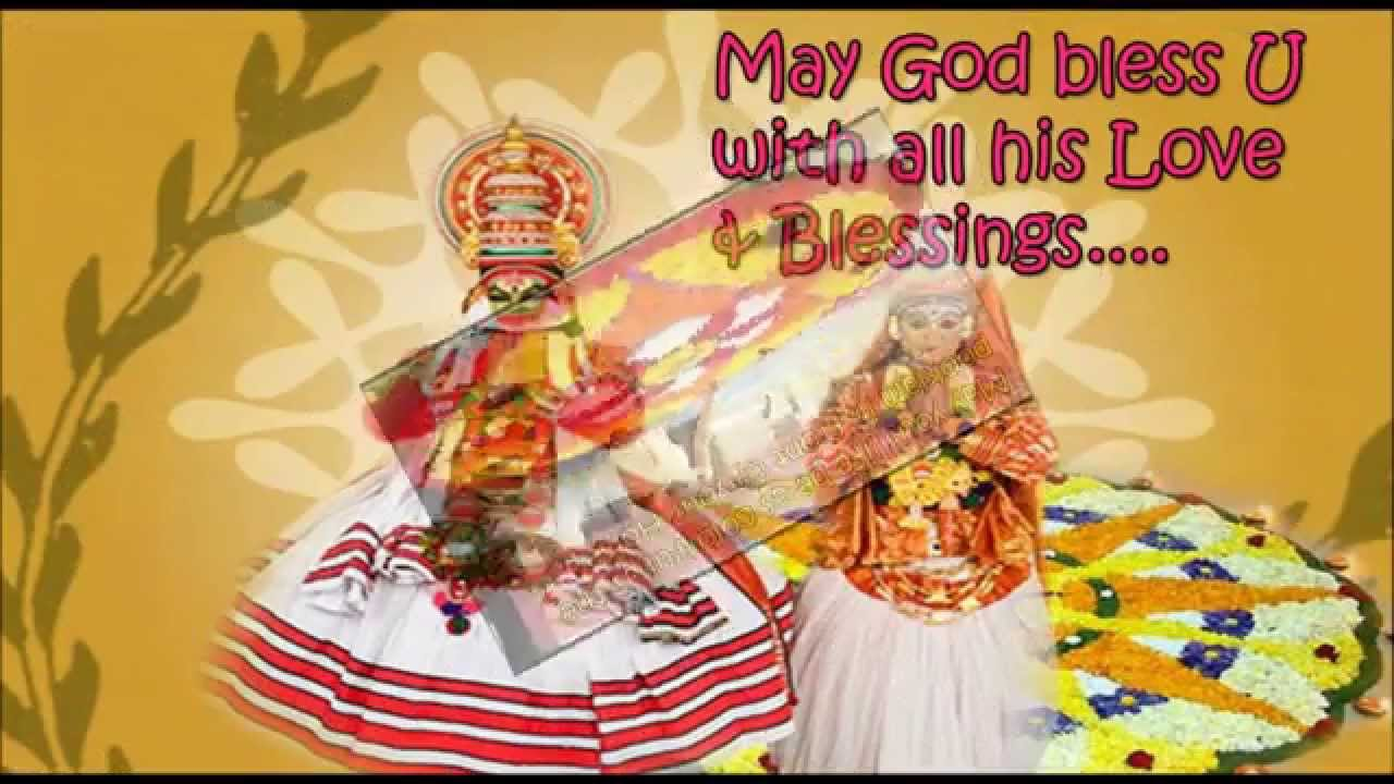 Happy Onam 2016 Onam Greetings And Best Wishes Youtube