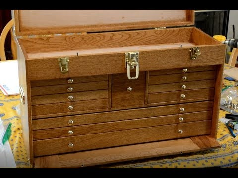 Gerstner style wood tool chest built part 8, hardware installation