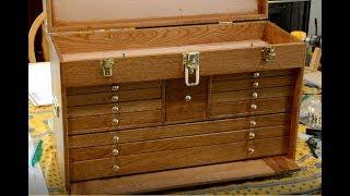 Gerstner style wood tool chest built part 8, hardware installation