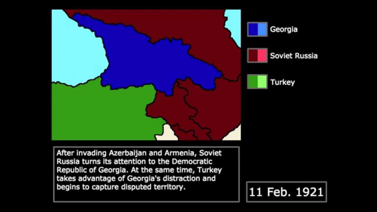 Soviet Georgia Map.Wars The Soviet Georgian War 1921 Every Day Youtube