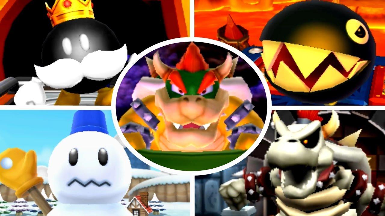 Mario Party Island Tour All Boss Battle Minigames