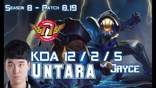 SKT T1 Untara JAYCE vs PANTHEON Top - Patch 8.19 KR Ranked