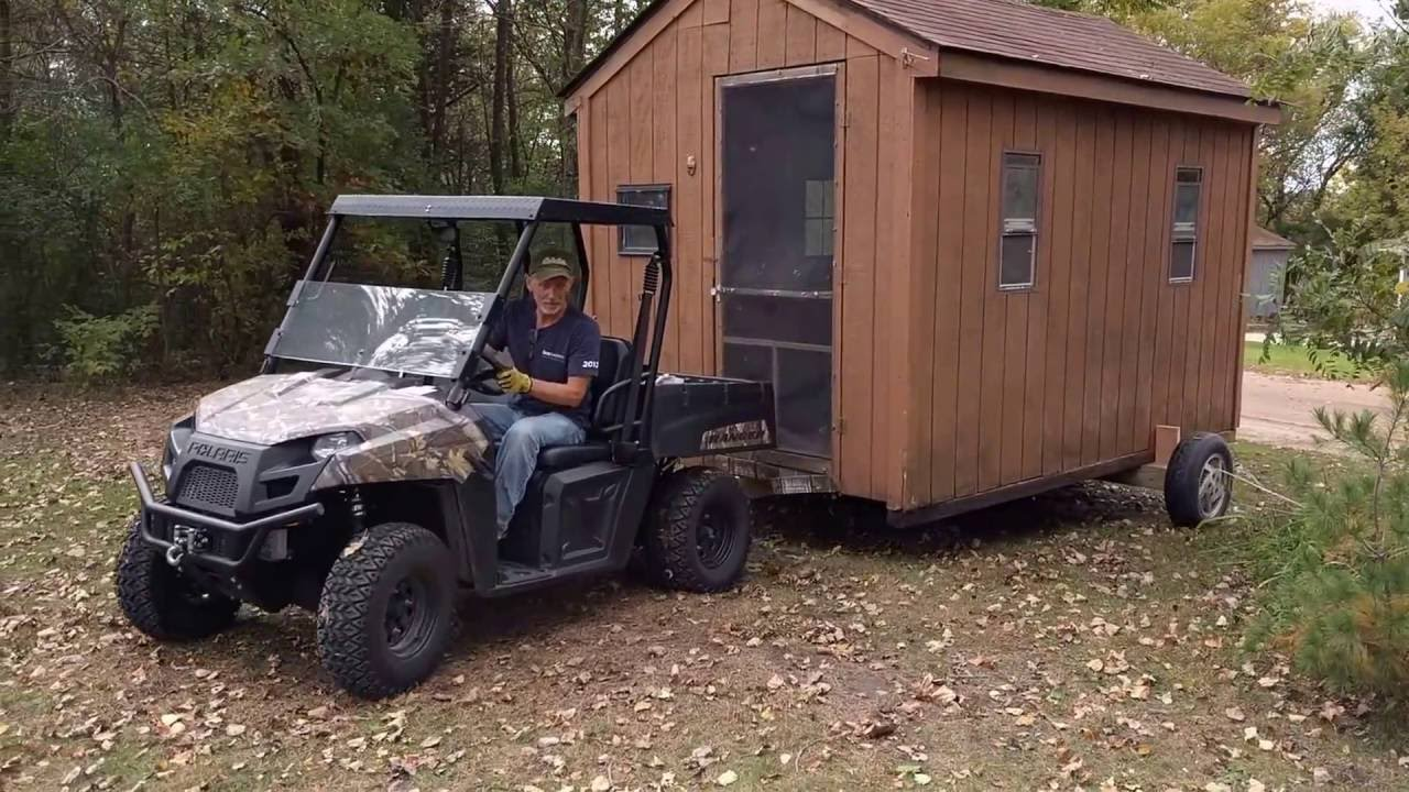 Garden shed part 2 the move youtube for Garden shed 4x4