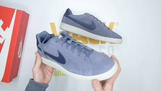 documental Final pereza  Nike Court Royale Suede - Carbon Blue - Unboxing | Walktall - YouTube
