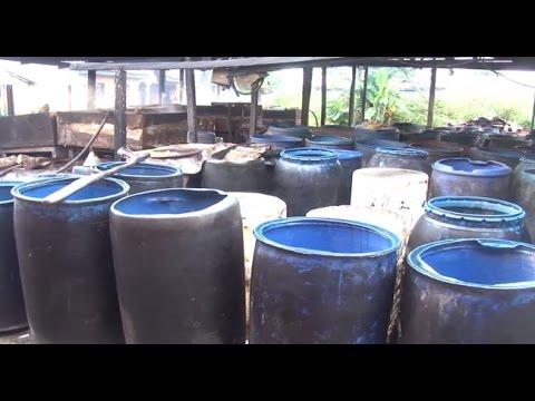 NAFDAC Raids Illegal Gin (Ogogoro) Production Factory In Delta -- 14/09/15