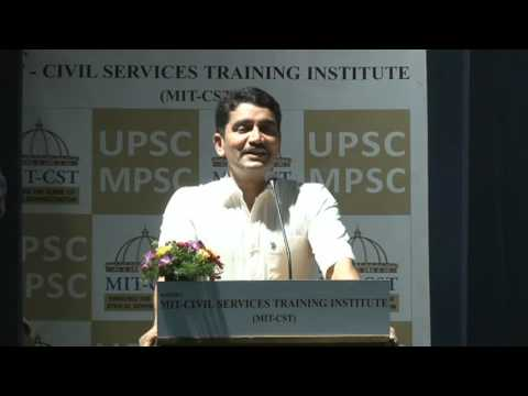 Shri Vishwasji Nangare IPS @ MIT Civil Services Training Institue