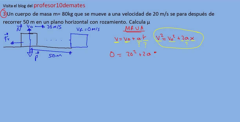 ejercicios y problemas resueltos de física dinámica 3