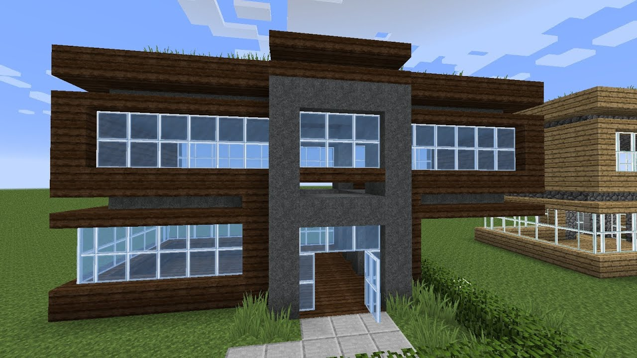Minecraft how to build a very simple modern starter house for Easy homes to build