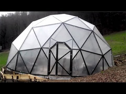 Building The Dome Geodesic Dome Greenhouse Construction