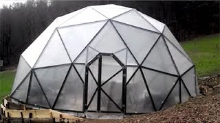 Building The Dome - Geodesic Dome Greenhouse Construction