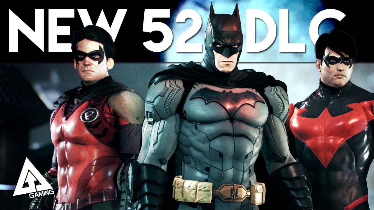 Batman Arkham Knight New 52 DLC Costumes - Batman Robin Nightwing  sc 1 st  YouTube & Batman Arkham Knight New 52 DLC Costumes - Batman Robin Nightwing ...