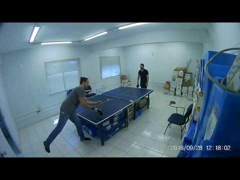 Tenis de Mesa na Koerich Telecom - Rodrigo vs Tiago