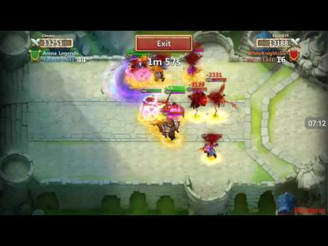 Castle Clash - You don't want to fight Arena Legends in Fortress Fued!