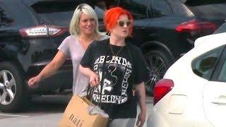 Kelly Osbourne Shows New Shocking Orange Hair While Shopping In Malibu