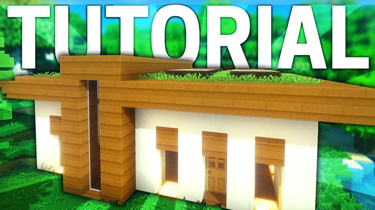 Minecraft casa moderna ecol gica y minimalista tutorial for Casa moderna 9 mirote y blancana