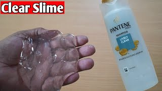 Diy Clear Slime With Pantene Shampoo l How To Make Slime Without Glue l How To Make Clear Slime
