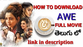 "HOW TO DOWNLOAD ""AWE"" MOVIE 