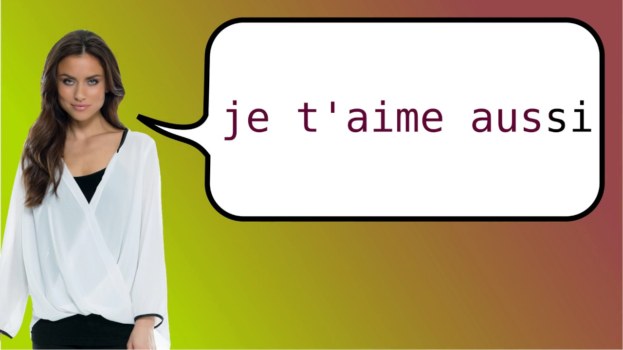 How do you say i love you more in french