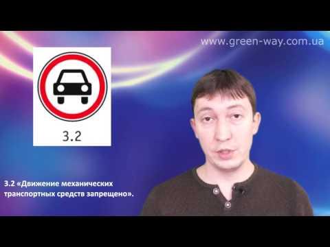 ПДД Украины. Раздел 33. Дорожные знаки. Запрещающие знаки. Знаки 3.1, 3.2 и 3.3.