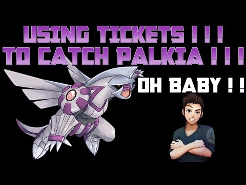 USING TICKETS! TO CATCH PALKIA!!!  - Mystery Pets