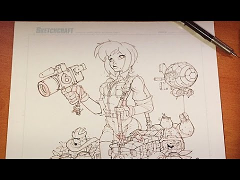 Realtime Art: TMNT April O'Neil Drawing Part 02
