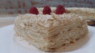 ЛЕНИВЫЙ ТОРТ НАПОЛЕОН - торт без выпечки и заморочек...))) Рецепт простой,а торт такой же вкусный)))