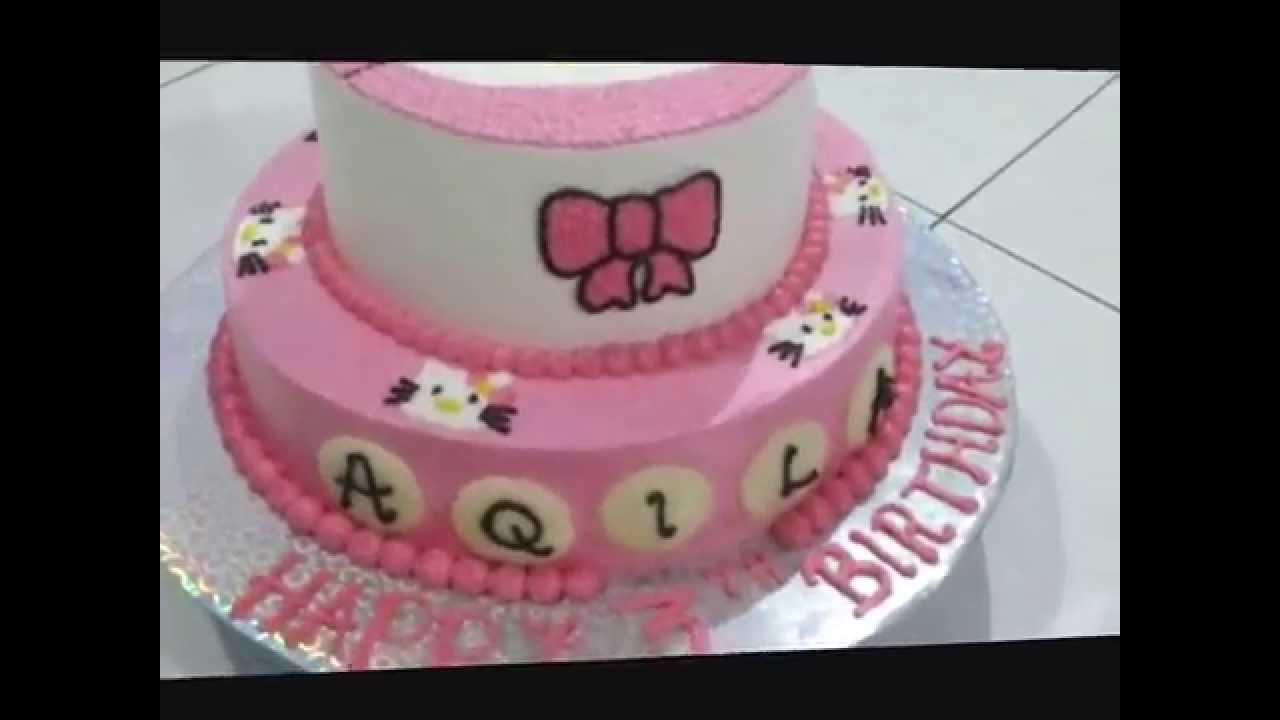 How To Make Hello Kitty 2 Tier Cake Youtube