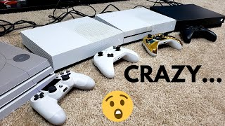 Connecting 3 XBOX ONES & A PS4 All TOGETHER... What Happens??