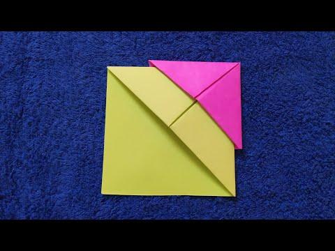 DIY Origami Corner Bookmark/ Simplest, basic, Easiest, no glue bookmark/ Summer paper craft for kids